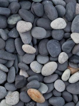 Beach pebbles zwart 8 - 16mm