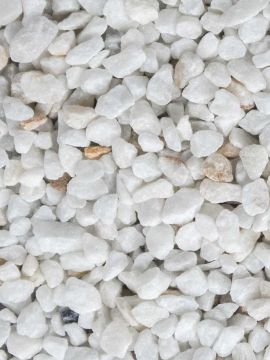 Crystal White split 9 - 12mm