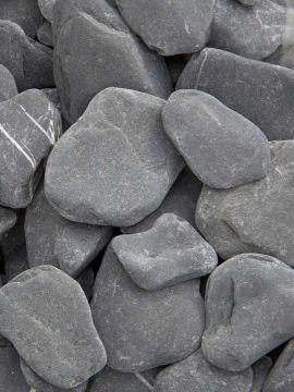 Flat Pebbles zwart 30 - 60mm (3 - 6cm)