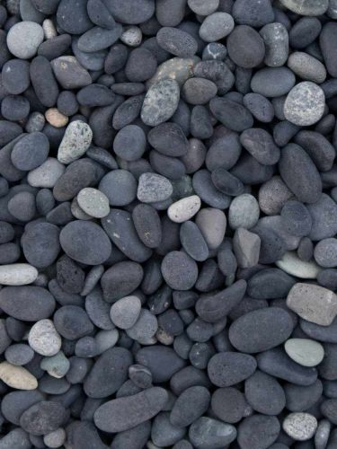 Beach pebbles zwart 5 - 8mm