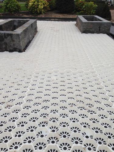 Easygravel®3XL grindplaten wit aanleg
