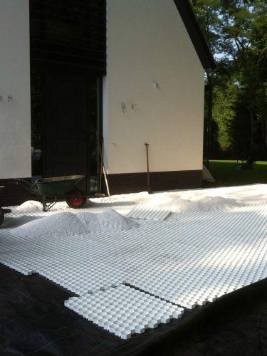 Easygravel®3XL splitplaat wit gevuld