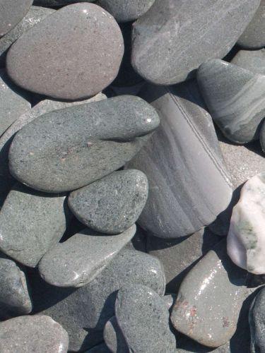 Flat Pebbles groen 30 - 60mm (3 - 6cm) (nat)