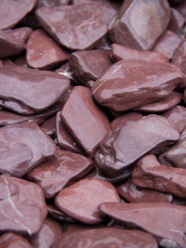 Flat Pebbles paars 30 - 60mm (3 - 6cm) detail