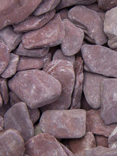Flat Pebbles paars 30 - 60mm (3 - 6cm)