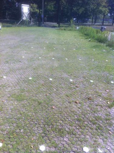 Grasplaten aanleg