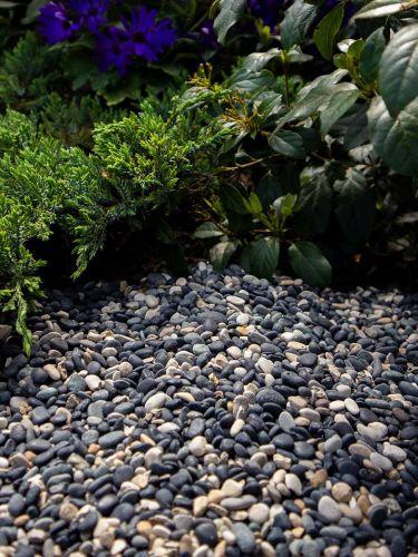 Natural Blend Pebbles 5 - 8mm aangelegd tuin