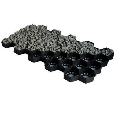 Easygravel® splitplaat gevuld met grind