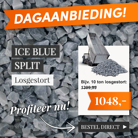 Ice blue split losgestort dagaanbieding