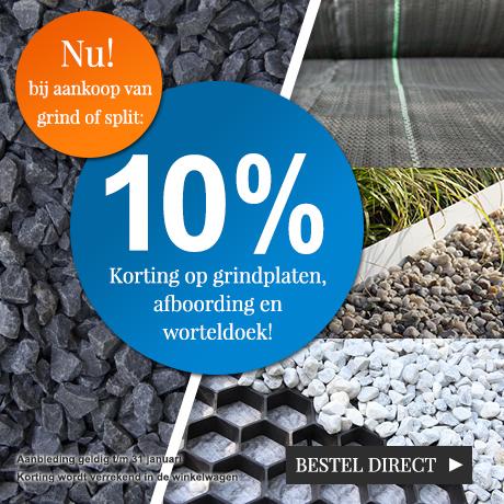 10% combikorting NL + BE splitplaten/afboording/worteldoek