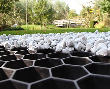 Geen zin in sporen en kuilen in uw oprit, maar wel graag grind leggen? Gebruik grindplaten!