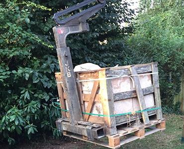 Het leveren van bigbags of kratten op moeilijk bereikbare plaatsen