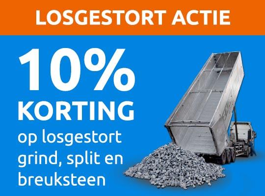 10% korting losgestort