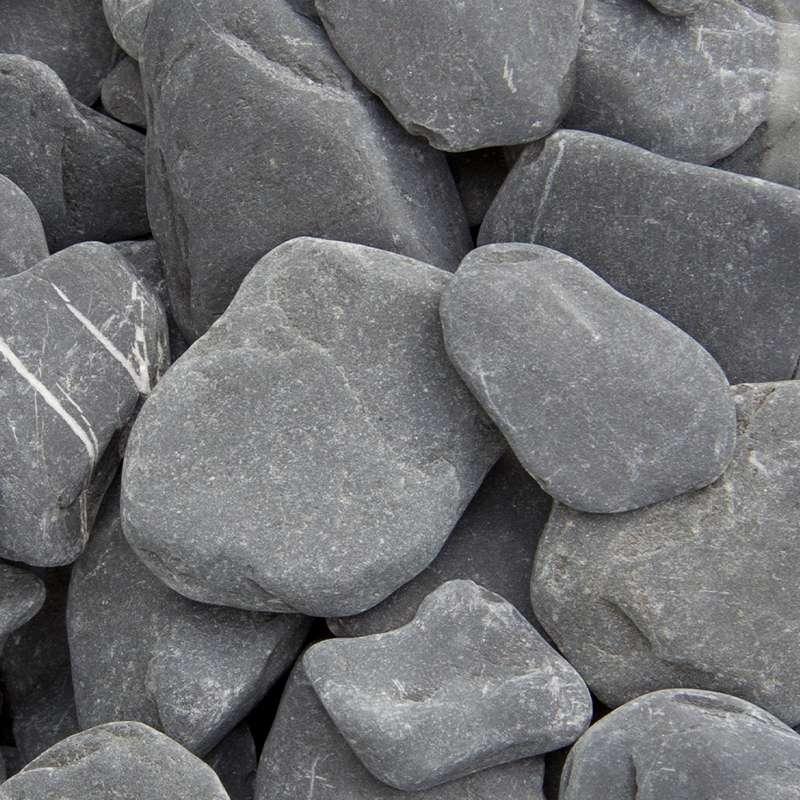 Flat pebbles zwart