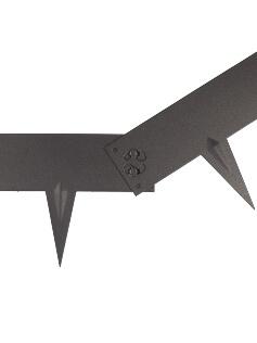 Kantopsluiting Multi-Edge Metal zwart