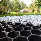 Tuinpad met Eurogravel grindplaten